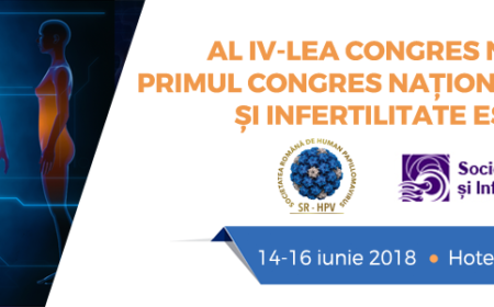 •Al IV-lea Congresul Național de HPV și Primul Congres Național de Endometrioză, Sinaia, 14-16 iunie 2018